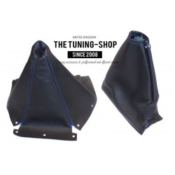 NISSAN SKYLINE R33 93-98 GEAR+HANDBRAKE GAITER BOOT BLUE STITCHING