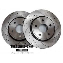 Front Disc Brake Rotors 53022A Diameter 320 mm Drilled & Slotted for Chrysler 300C Dodge Charger Challenger