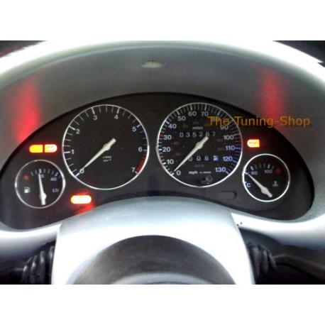 For Vauxhall Opel Corsa B 93 00 Chrome Trim Rings Gauge