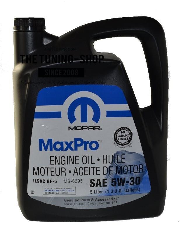 original mopar petrol engine oil sae 5w 30 maxpro 5l 0. Black Bedroom Furniture Sets. Home Design Ideas