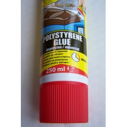 1 x 250ml NEW ELASTIC WATER RESISTANT ADHESIVE GLUE FOR STYROFOAM, POLYSTYRENE POWER FIX TECHNICQLL
