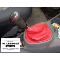 TOYOTA AYGO GEAR GAITER SHIFT BOOT RED GENUINE LEATHER