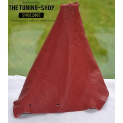 NISSAN SKYLINE 1993-1998 GEAR GAITER RED LEATHER