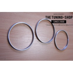 TOYOTA MR2 MK3 00-07 CHROME DIAL SURROUNDS GAUGE TRIM RINGS NEW