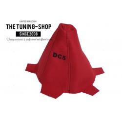 FITS HONDA INTEGRA DC5 01-05 GEAR GAITER CUSTOM SHIFT BOOT RED SUEDE EMBROIDERY DC5 BLACK STITCH NEW