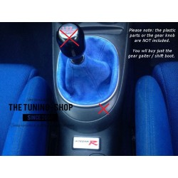 HONDA INTEGRA DC5 01-05 GEAR GAITER BOOT BLUE SUEDE