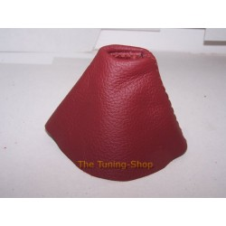 FOR BMW E46 SMG GEAR GAITER SHIFT BOOT TANINRED LEATHER NEW