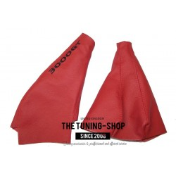 FOR Mitsubishi 3000 GT Z16A / GTO 1991-2000 GEAR HANDBRAKE GAITER RED LEATHER EMBROIDERY
