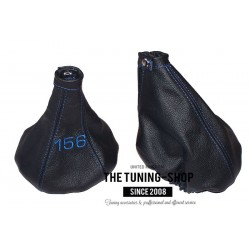 FOR ALFA ROMEO 156 1998-2002 GEAR HANDBRAKE GAITER BLUE STITCHING