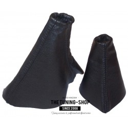 FOR HYUNDAI COUPE RD 1996- 2001 GEAR HANDBRAKE GAITER BLACK LEATHER