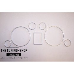 FOR AUDI A4 S4 A6 S6 C5 ALLROAD SET OF 7 DIAL RINGS TRIM SURROUNDS BRUSHED MATT SATIN FINISH new