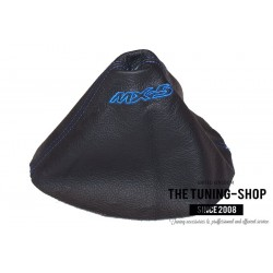 FOR  MAZDA MX-5 MX5 MK3 2005-2013 GEAR GAITER BLACK LEATHER EMBROIDERY TAN STITCHING