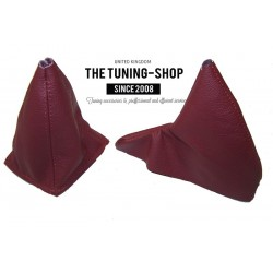FOR  MG MGF 95-00 GEAR & HANDBRAKE GAITER TANIN RED LEATHER