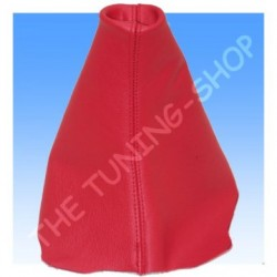 CITROEN C4 GEAR GAITER SHIFT BOOT RED GENUINE LEATHER NEW