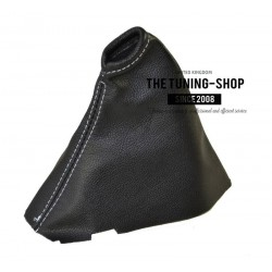 FITS VOLKSWAGEN GOLF 7 JETTA 2013-2015 HANDBRAKE GAITER BLACK LEATHER WITH WHITE STITCHING