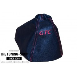 FOR VAUXHALL ASTRA MK5 H 2005-2009 GEAR GAITER GREY LEATHER embroidery VXD