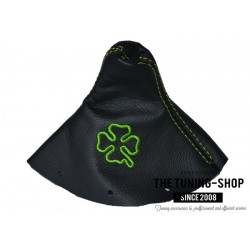 FOR AUDI TT 98-06 GEAR GAITER SHIFT BOOT BLACK LEATHER EMBROIDERY CLOVER