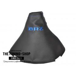 FOR TOYOTA GT86 SUBARU BRZ 2012-2016 MANUAL GEAR GAITER BLACK LEATHER BLACK STITCHING