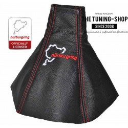 FOR VAUXHALL OPEL VECTRA C 02-08 SIGNUM GEAR GAITER BLACK LEATHER NURBURGRING EMBROIDERY