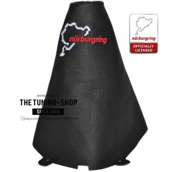 FOR FORD FIESTA MK7 08-13 GEAR GAITER BLACK LEATHER NURBURGRING EMBROIDERY