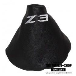 FOR BMW Z3 1995-2002 GEAR GAITER BLACK LEATHER GREEN STITCHING