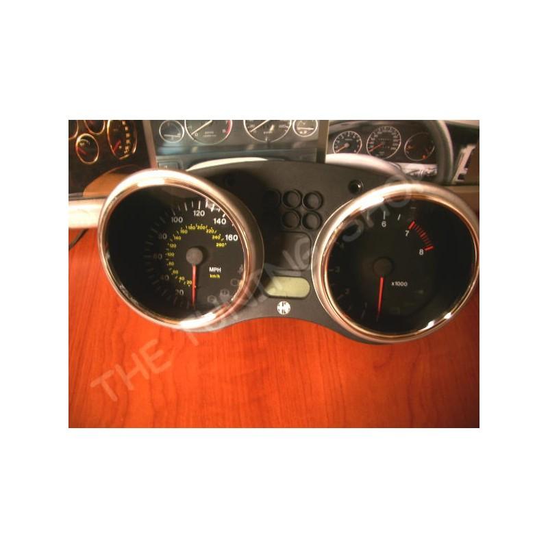 FOR ALFA ROMEO GTV / SPIDER 1995-2005 CHROME SPEEDO RINGS
