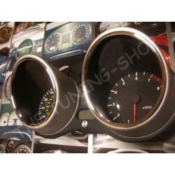FOR ALFA ROMEO GTV / SPIDER 1995-2005 CHROME SPEEDO RINGS SURROUNDS NEW