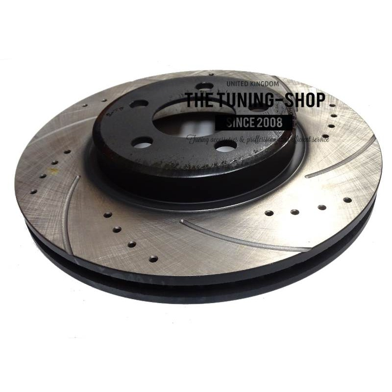 2x Front Brake Disc Rotors 53022A Diameter 320 Mm Drilled