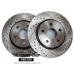 Front Disc Brake Rotors 53022A Diameter 320 mm Drilled & Slotted for Chrysler 300C Dodge Charger Challenger