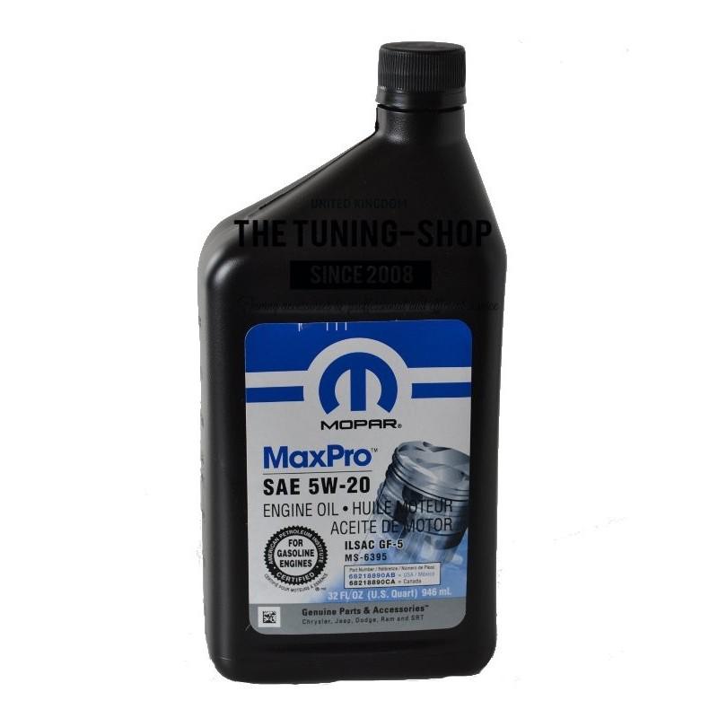 ORIGINAL MOPAR MINERAL PETROL ENGINE OIL SAE 5W-20 MaxPro