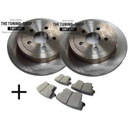Rear Vented Brake Discs with diameter 320 mm 53024A & CBK Brake Pads Set