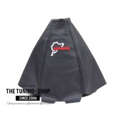 FOR AUDI A4 B5 95-97 GEAR GAITER BLACK LEATHER NURBURGRING EMBROIDERY RED STITCH