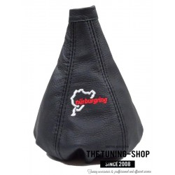 FOR ALFA ROMEO 156 1998-2002 GEAR GAITER BLACK LEATHER EMBROIDERY NURBURGRING