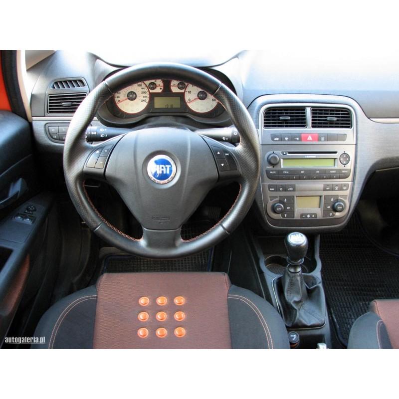 For Fiat Grande Punto 2005 2012 Gear Gaiter Black Leather