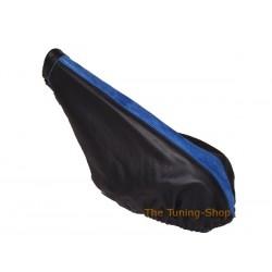 FIAT PUNTO MK1 93-99 HANDBRAKE GAITER BLACK LEATHER BLUE ALCANTA