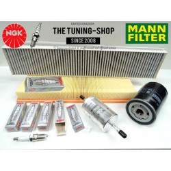 Premium Service Kit for Jaguar X-Type 2.0 V6 156HP Petrol 03-09 Air Cabin Fuel Oil Filter & Spark Plugs Mann NGK New