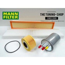 Premium Service Kit for Jaguar X-Type 2.0D 130HP Diesel 03-09 Air Cabin Fuel Oil Filter Mann New