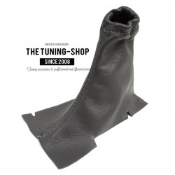 FOR VOLVO V70 2001-2004 HANDBRAKE GAITER BLACK LEATHER
