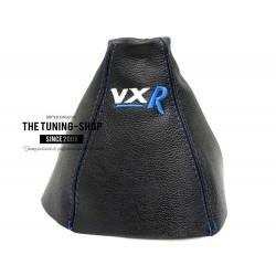 FOR VAUXHALL ASTRA MK5 H 2005-2009 GEAR GAITER BLACK LEATHER embroidery VXR BLUE STITCHING