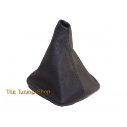 FOR BMW E28 1981-1988 BLACK LEATHER GEAR GAITER BLACK STITCHING