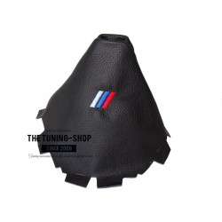 FOR BMW X3 F25 2011-2016 MANUAL GEAR GAITER BLACK LEATHER M3 LOGO EMBROIDERY