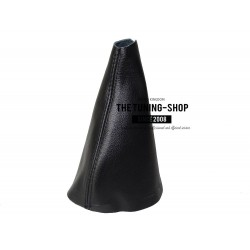 FOR CITROEN C4 PICASSO GEAR GAITER SHIFT BOOT BLACK GENUINE LEATHER