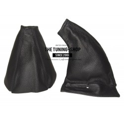 FOR HONDA PRELUDE 1992-1996 GEAR GAITER SHIFT BOOT BLACK LEATHER