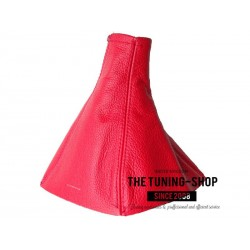 FOR VAUXHALL OPEL VECTRA C 02-08 GEAR GAITER RED LEATHER