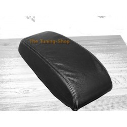 FORD MONDEO MK3 01-03 ARMREST COVER BLACK LEATHER BLACK STITCH