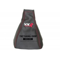 FOR VAUXHALL OPEL VECTRA C 02-08 SIGNUM GEAR GAITER BLACK LEATHER RED STITCH Embroidery VXR