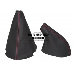 FOR NISSAN 200SX S14 SILVIA GEAR & HANDBRAKE GAITER BLACK STITCHING 4 PANELS