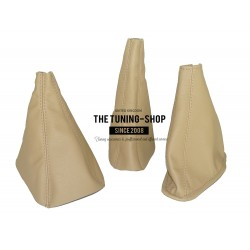 TOYOTA LAND CRUISER 120 SERIES 03-08 SET OF 3 GAITERS BOOTS BEIGE LEATHER