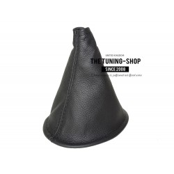 FOR TOYOTA YARIS 99-03 GEAR GAITER SHIFT BOOT BLACK LEATHER