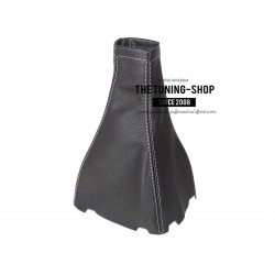 FOR CHEVROLET AVEO 2008-2011 GEAR GAITER SHIFT BOOT BLACK LEATHER WHITE STITCHING